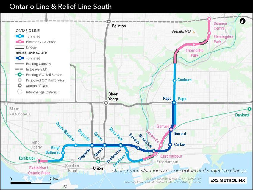 Ontario Line & Relief Line